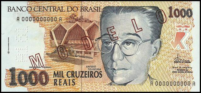 Cédulas Brasileiras: P240: 1000 Cruzeiros Reais