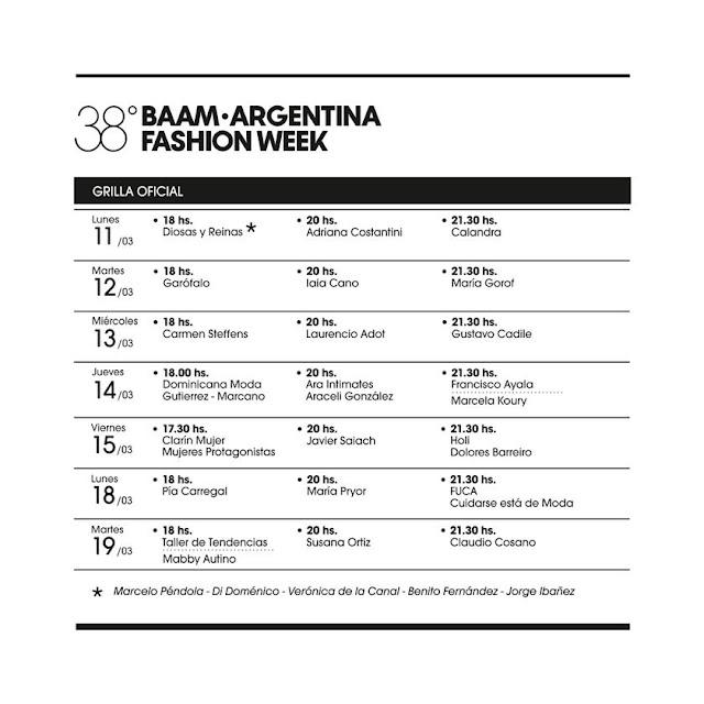 Baam 38 Argentina Fashion Week Desfiles