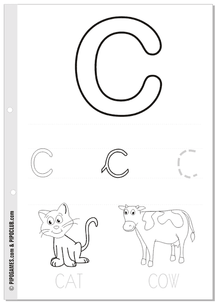 capital and lowercase letters coloring pages