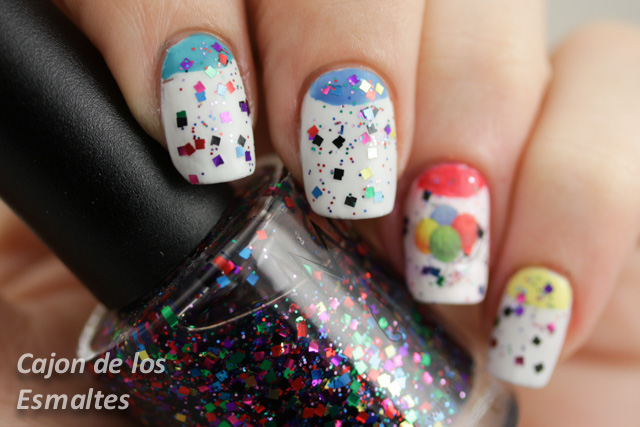 nail art party celebration birthday confetti