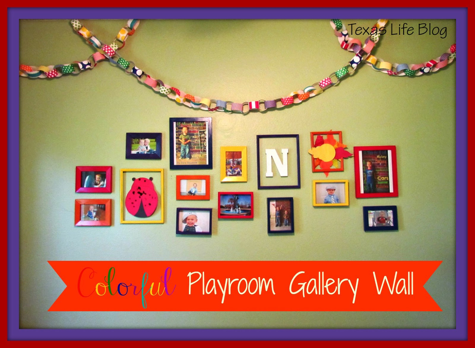 8th Street Bridge: Colorful Playroom Gallery Wall