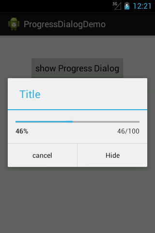 Android Progress Dialog