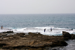 Fishermen at Cesarea
