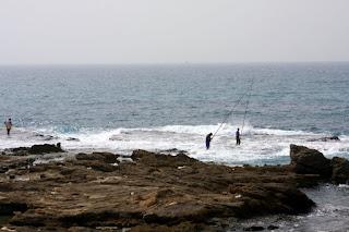 Fishermen at Cesarea