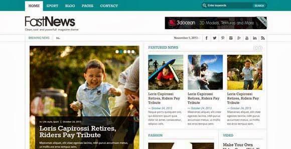 Fast News- Stylish WordPress Theme