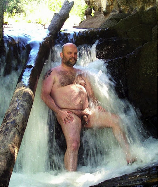 Naturebear02 Sexy Naked Chubby Bear Photos in Nature