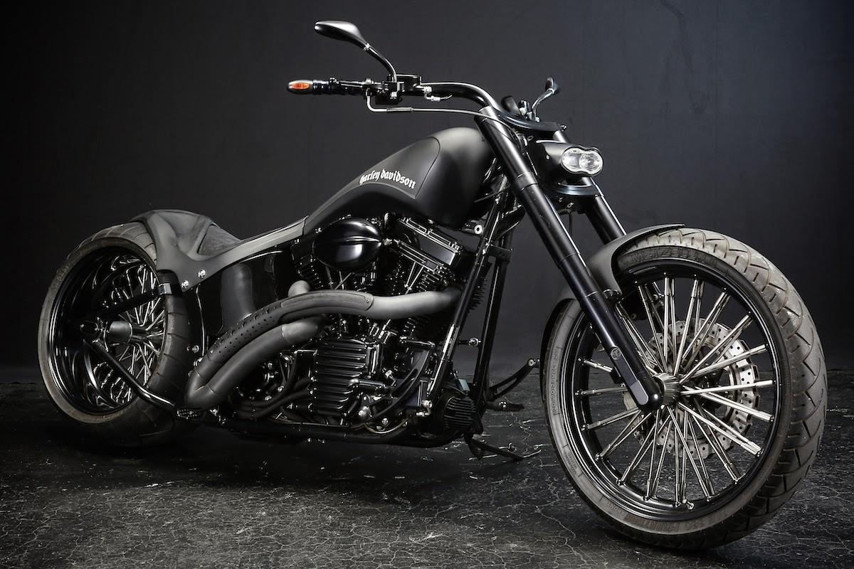 Gambar Wallpaper Harley Davidson 2003 FXSTB Custom [U-TERA]