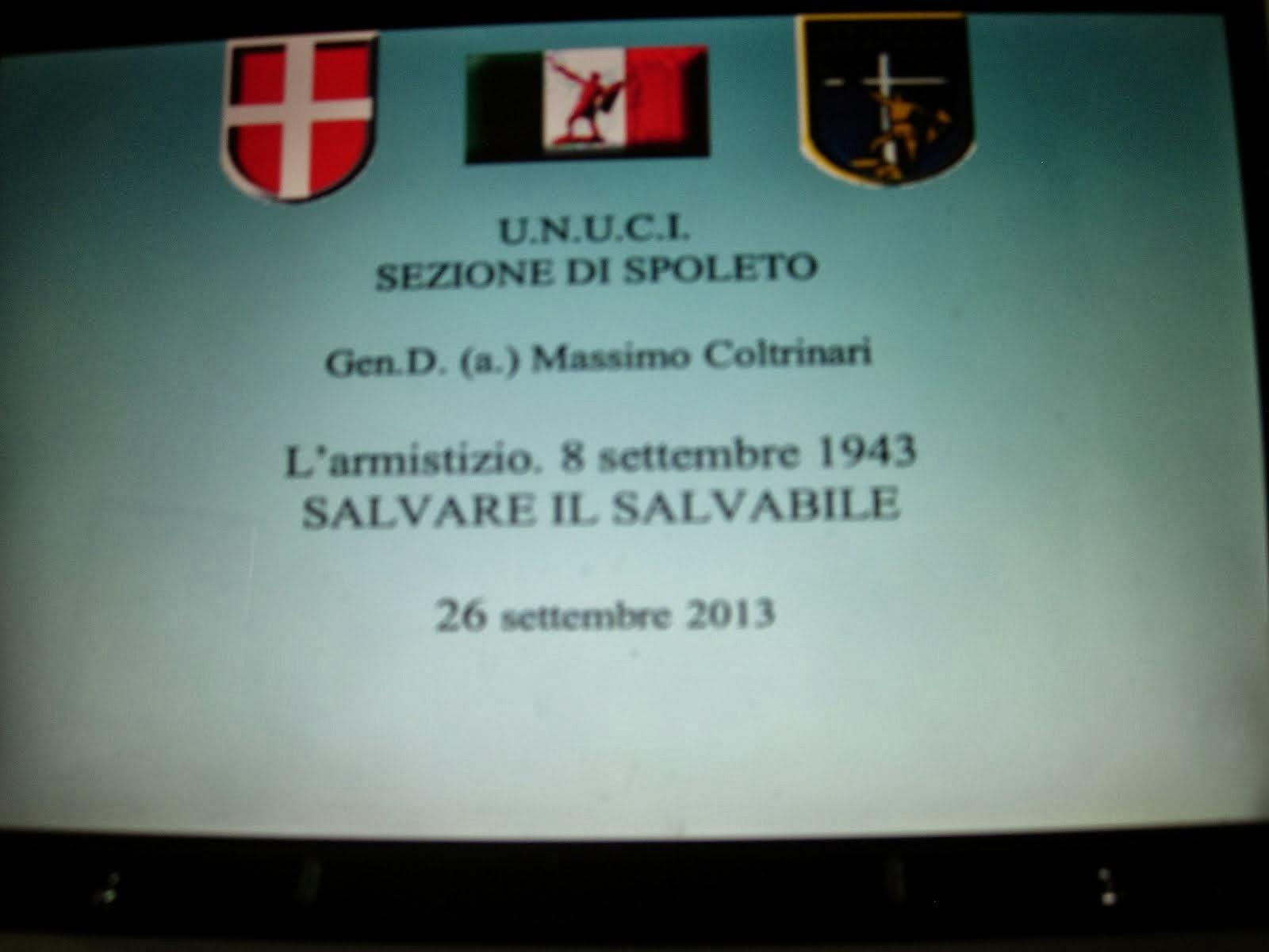 Conferenza dedicata alla crisi armistiziale dell'8 settembre