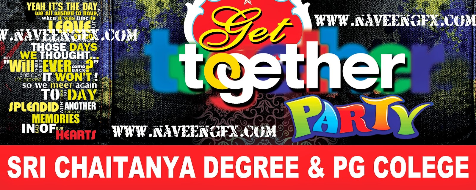 Get Together Party Design Naveengfx