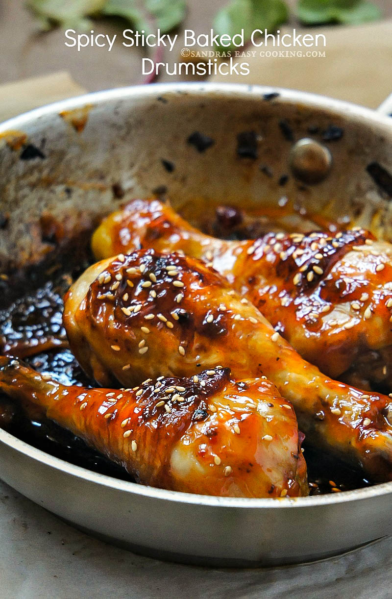 Spicy Sticky #Baked Glazed #Chicken Drumsticks #Recipe @SECooking