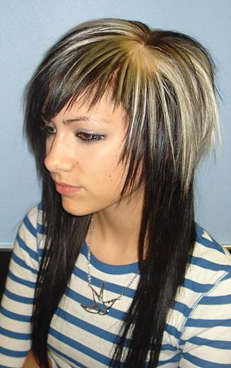 long straight scene hairstyles