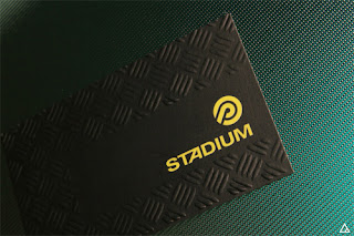 business card from Stadium Sporting Goods