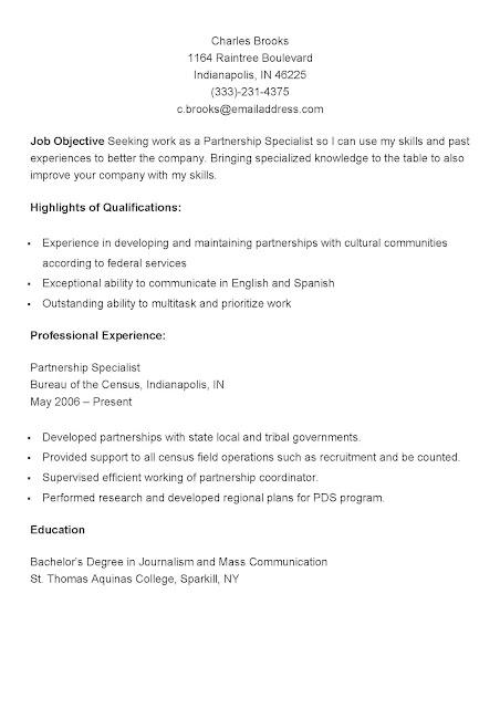 sample partnership specialist resume - Partnership Specialist Sample Resume