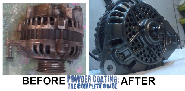Powder coating alternator