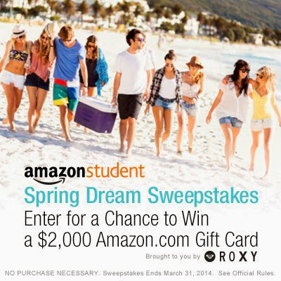 Amazon Student Spring Dream Sweepstakes