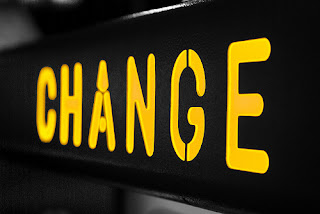 A picture of the word, Change.