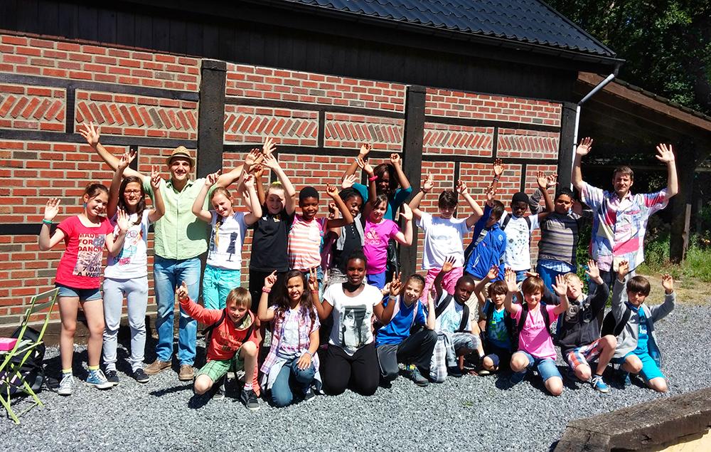 School Students visiting Ben Heine's Studio