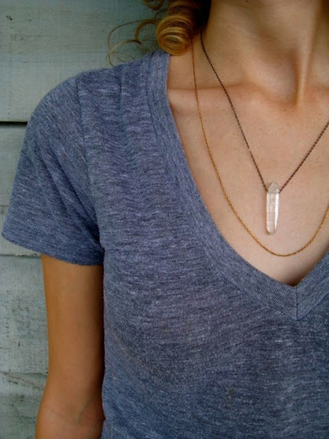 Mint, DIY Crystal Necklace
