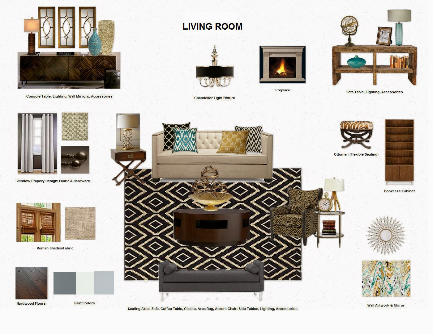 90 industrial interior design mood board rsgstyle for Modern living room mood board