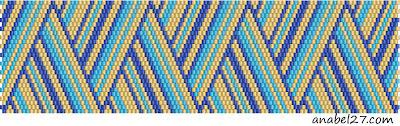 bead pattern peyote схема плетения браслета бисером