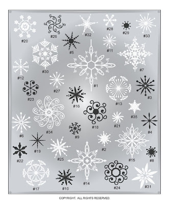 Christmas winter vinyl decal snowflakes