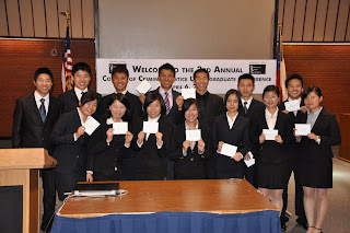 Chinese exchange students from Zheijiang College swept the research awards.