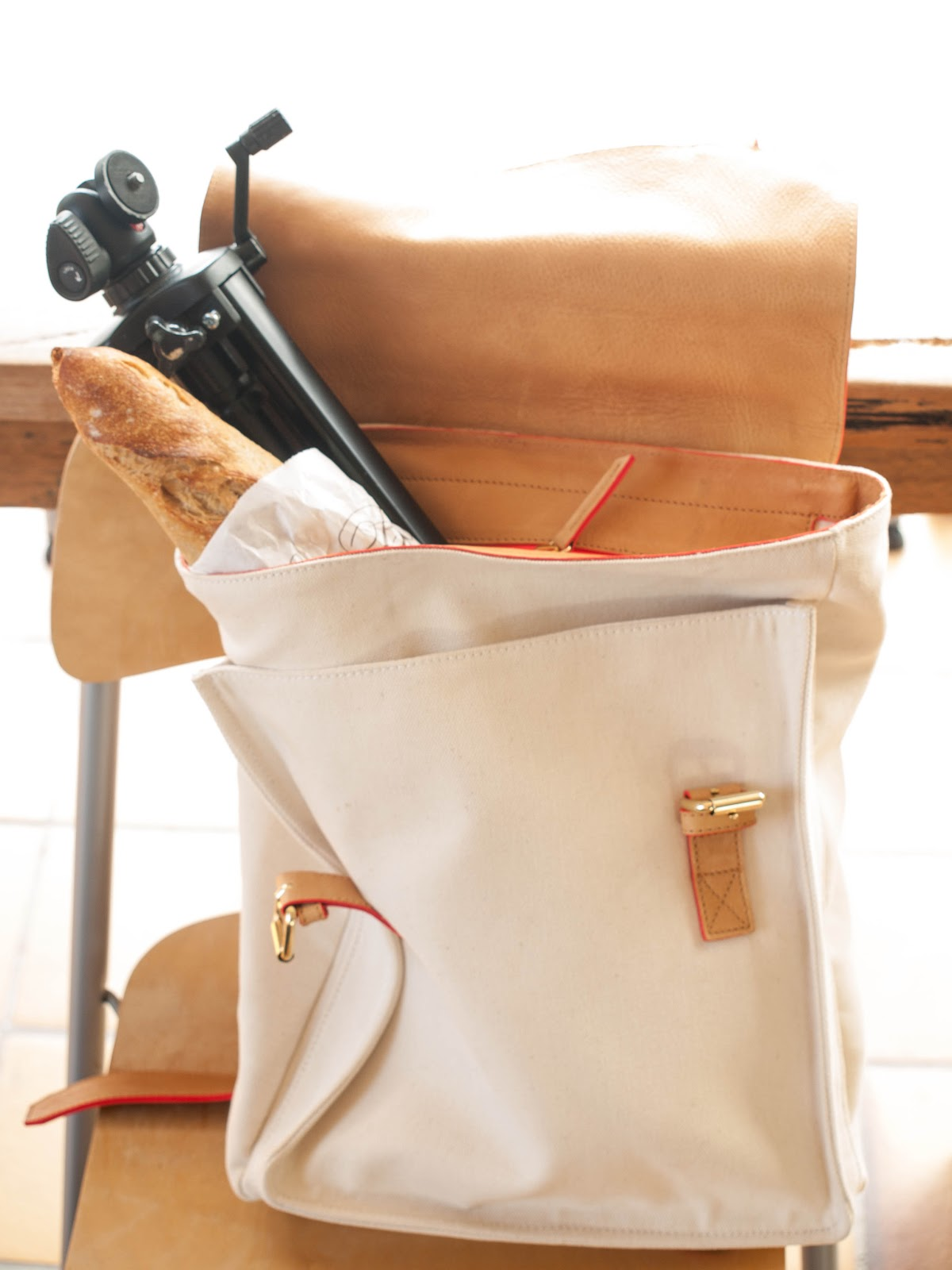 Clare Vivier backpack, Clare Vivier white bag, Pencey starndard top, Mother The Looker, White blazer, rashguard