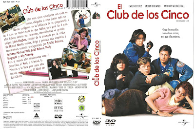 Cover, carátula, dvd: El club de los cinco | 1985 | The Breakfast Club