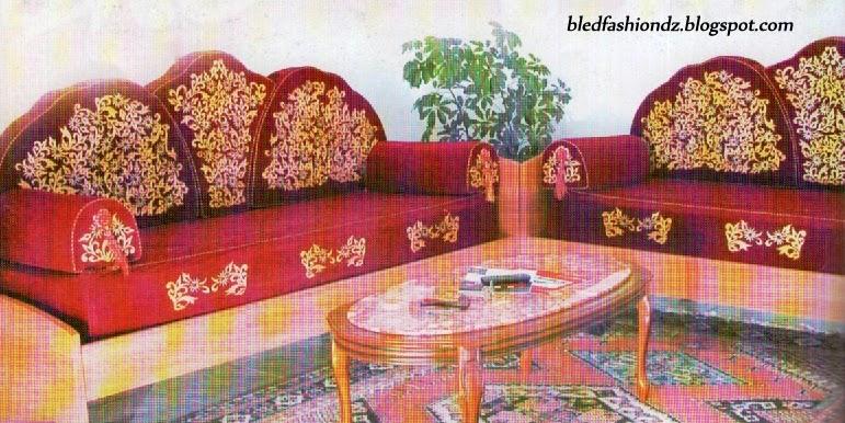La mode alg rienne salon marocain grenat for Salon kabyle