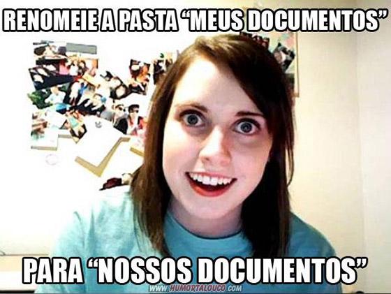 A origem: Meme namorada sinistra - Pasta meus documentos - Nossos Documentos