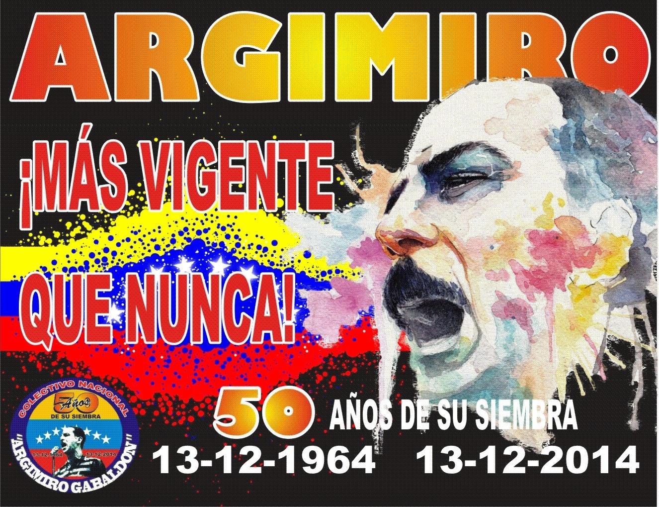 A 50 AÑOS DE LA SIEMBRA DEL COMANDANTE CARACHE...