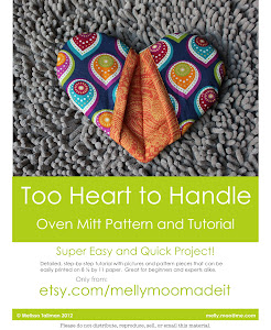Heart Oven Mitt Tutorial and Pattern