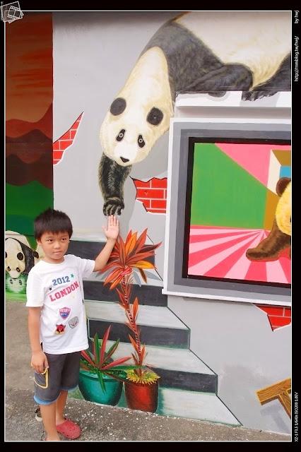 雲林斗南-石龜社區發展協會-社區貓熊立體壁畫