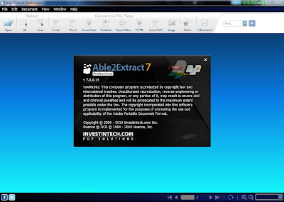 Able2Extract menu