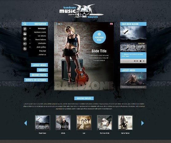 Bandzone Music WordPress Theme