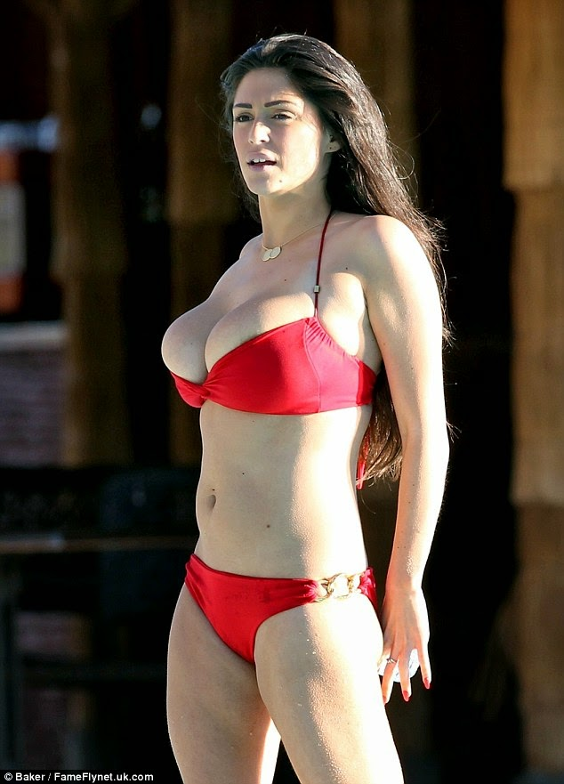 Casey Batchelor sexy bikini candids in Ibiza photo 1