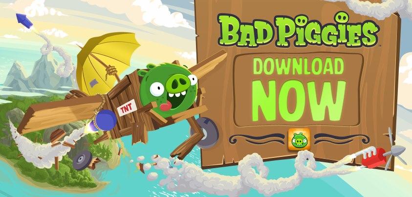 تحميل لعبة Bad Piggies باتش كراك سيريال كاملة للكمبيوتر PC Version