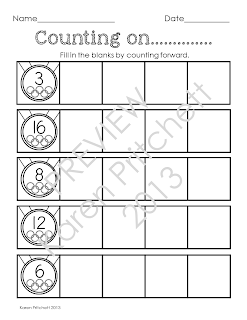 http://www.teacherspayteachers.com/Product/Winter-Sports-Math-sequencing-missing-number-counting-on-tens-frames-1032323