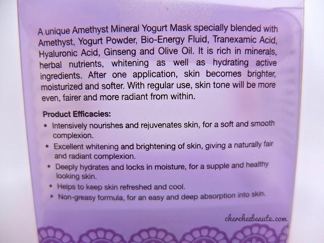 Amethystory Mineral Yogurt Mask