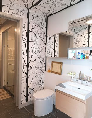 Best wallpaper ideas for the bathroom for Best wallpaper for bathrooms