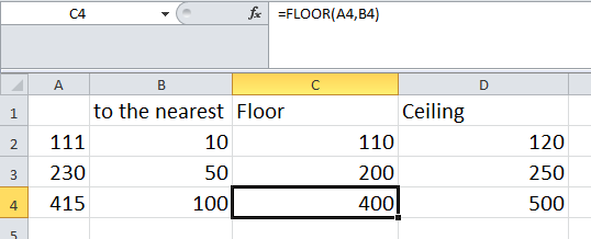Microsoft excel tips and tricks microsoft excel functions for Floor function