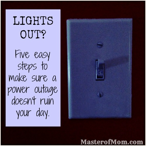 lights out, power outage, my lights are out, what do I do if my power goes out, who do I call if my power goes out