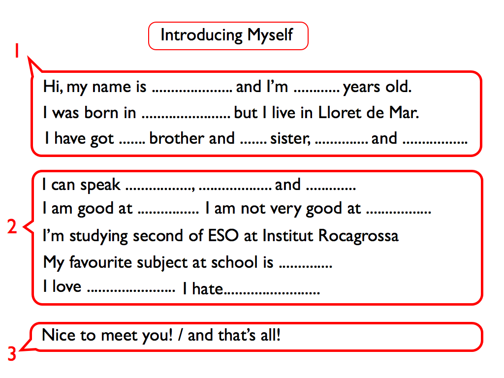 write essay introduce myself