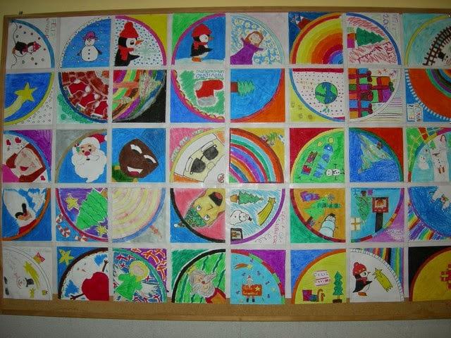 Nuestros trabajos murales navide os 2014 - Murales decorativos de navidad ...