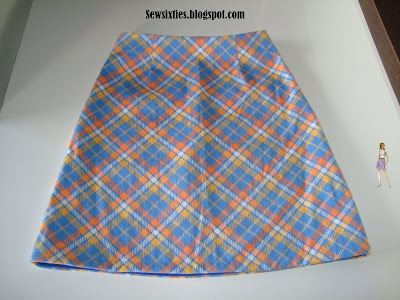 Mods Fashion History on Sew Sixties  Mod Mini Skirt Project  Orange   Blue Plaid