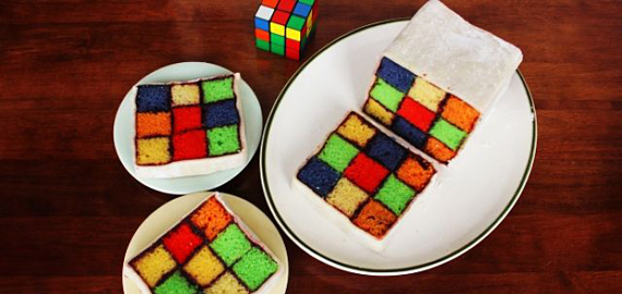 Rubik's Cube Cake Seen On www.coolpicturegallery.us