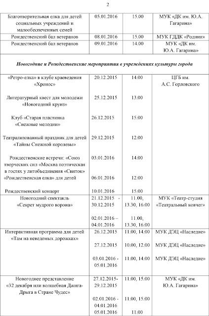 Программа новогодних и рождественских праздников в Сергиевом Посаде