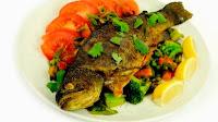 Праздничные кулинарные рецепты - Форель запеченная с овощами