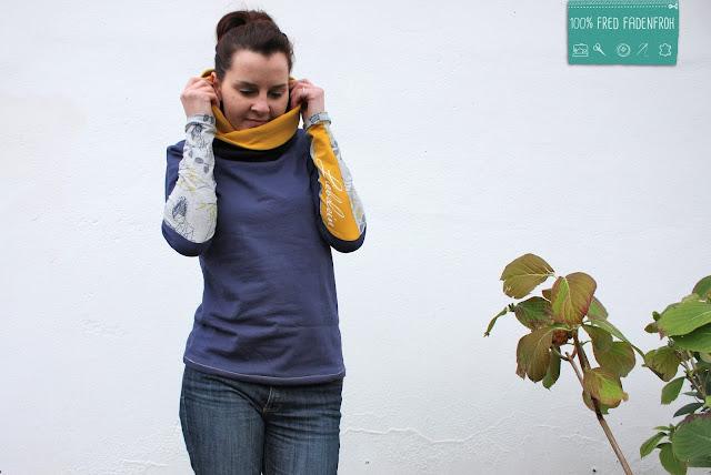 Kragenshirt; Liebelein; print4kids; nähen; Shirt nähen; Kragen; Kuschelkragen