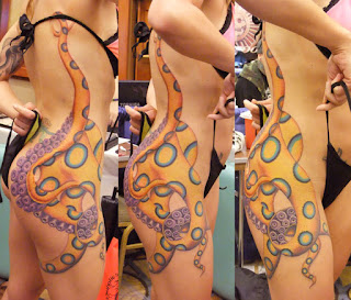Beautiful tattoo of Blue ringed octopus